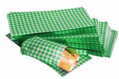 Green Gingham Design Duplex Butcher Sheets 250mm x 375mm