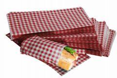 Red Gingham Design Duplex Butcher Sheets 250mm x 375mm
