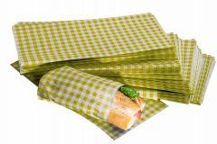 Yellow Gingham Design Duplex Butcher Sheets 250mm x 375mm