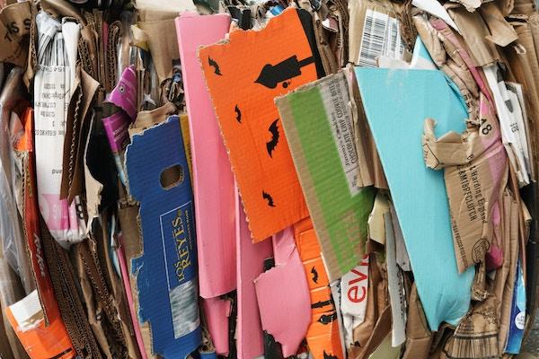 piled cardboard